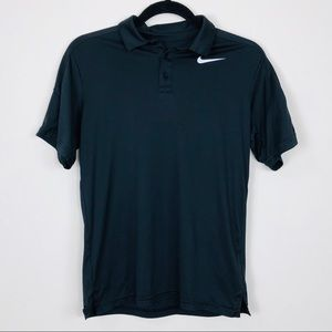 NIKE Black DRI-FIT Polo Size Large